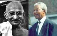 Mahatma Gandhi and Nelson Mandela